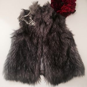 Michael Kors Faux Fur Vest Size Small